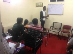 Mr. Jerry Immanuel in a Spoken English cum Grammar  weekend session